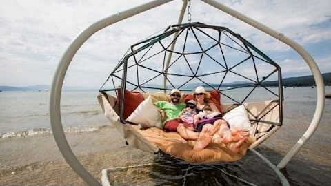 This Backyard Swing is Basically a Floating Couch