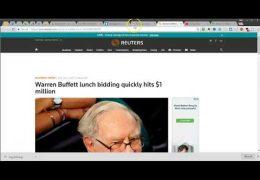 Eating Lunch With Warren Buffett